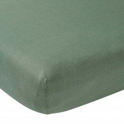 Meyco hoeslaken ledikant Stone Green