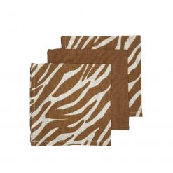 Meyco 3-pack monddoeken - Zebra-Uni camel-Zebra