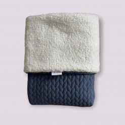 Ledikantdeken teddy - Quilt blue