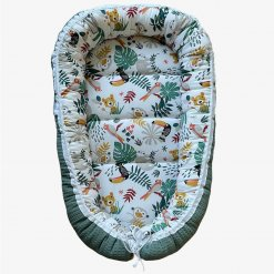 babynestje groen wafel jungle