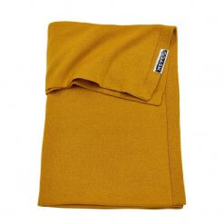 meyco-knit-basic-wiegdeken-75x100-cm-okergeel