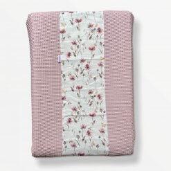 aankleedkussenhoes roze bloem hydrofiel